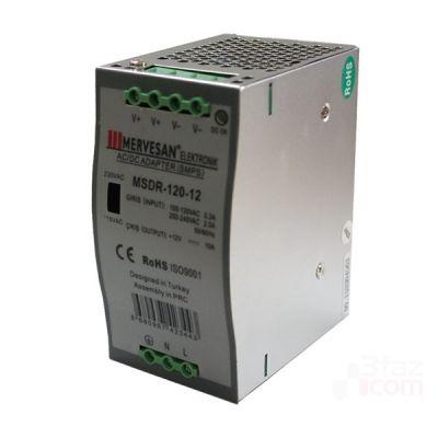 Mervesan-12 Vdc 10a 120w Ray Montaj Ac-Dc Adaptör-Msdr-120-12