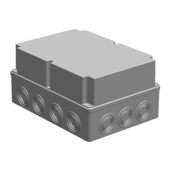 Mete Enerji - Mete Enerji 210x290x140 Termoplastik Buat Derin Kapaklı Gri/ 40203205