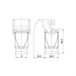 Mete Enerji - Mete Enerji 3x10a Termoplastik Uzatma Prizi/ 403262