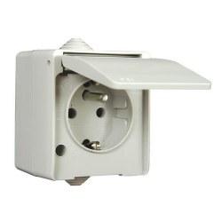 Mete Enerji - Mete Enerji / Nemliyer Gri Kapaklı Torpaklı UPS Priz / 40500605