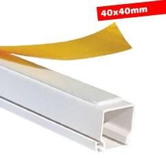 Mutlusan - Mutlusan / 40x40 mm Yapışkan Bantlı Kablo Kanalı / 001 014 040040 20 00