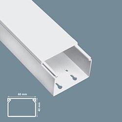 Mutlusan - Mutlusan / 60x40 mm Yapışkan Bantlı Kablo Kanalı / 001 014 060040 20 00