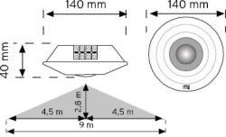 Nade - 10359- 360° Tavan Tipi Hareket Sensörü Sıva Altı - Thumbnail