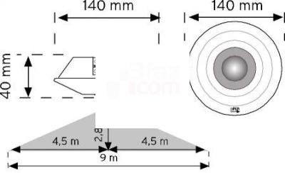 Nade - 10359- 360° Tavan Tipi Hareket Sensörü Sıva Altı