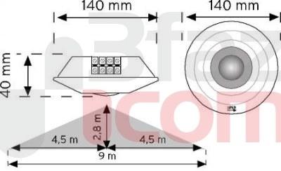 Nade - 10360- 360° Tavan Tipi Hareket Sensörü-Sü