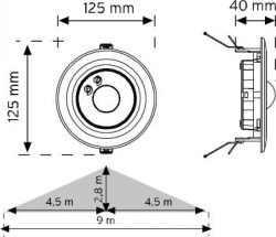 Nade10362-360° Tavan Tipi Hareket Sensörü-Sa - Thumbnail