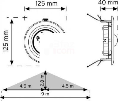 Nade10362-360° Tavan Tipi Hareket Sensörü-Sa