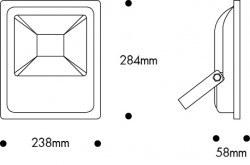 Nade-50w Led Projektör 6500k-103 03 1226 - Thumbnail