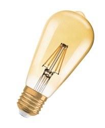 Osram - Osram 2.8w 1906 Edison Rustik Flamentli Led Ampül 2400k Sarı E27 (Standart Duylu)