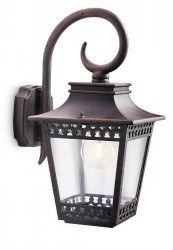 Philips - Philips / Hedge Wall Lantern Rust 1X60W / 154018616