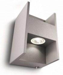 Philips - Phılıps Metric Aplik Led Gri 2X2.5W Selv