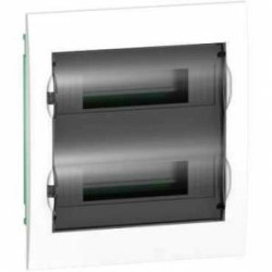 Schneider Electric - Schneider / 2x12'li Sıvaaltı Şeffaf Kapaklı Sigorta Kutusu / EZ9E212S0F
