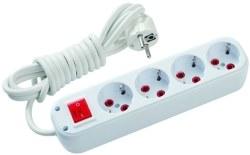 Schneider Electric - Schneider / 4'lü 3m Kablolu Anahtarlı Grup Priz / GPR601103