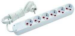 Schneider Electric - Schneider / 6'lı 2m Kablolu Grup Priz / GPR601902