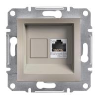 Schneider Electric - Schneider Asfora Bronz Rj45 Tek Çıkışlı Telefon Prizi / Eph4300169