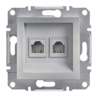 Schneider Electric - Schneider Asfora Alüminyum 2 Çıkışlı Telefon Prizi / Eph4200161