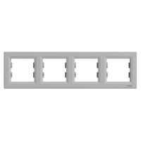 Schneider Electric - Schneider Asfora Alüminyum 4'lü Yatay Çerçeve / Eph5800461