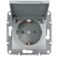Schneider Electric - Schneider Asfora Alüminyum Kapaklı Topraklı Priz / Eph3100161