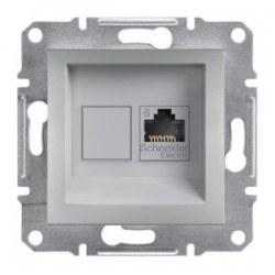 Schneider Electric - Schneider Asfora Alüminyum Rj45 Tek Çıkışlı Telefon Prizi / Eph4700161