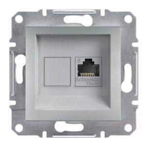 Schneider Asfora Alüminyum Rj45 Tek Çıkışlı Telefon Prizi / Eph4700161