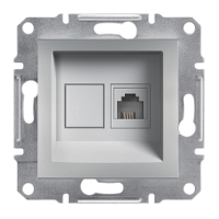 Schneider Electric - Schneider Asfora Alüminyum Tek Çıkışlı Telefon Prizi / Eph4100161