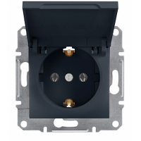 Schneider Electric - Schneider Asfora Antrasit Kapaklı Topraklı Priz / Eph3100171