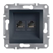 Schneider Electric - Schneider Asfora Antrasit Rj45 2 Çıkışlı Data Prizi / Eph4800171