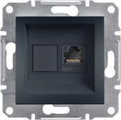 Schneider Electric - Schneider Asfora Antrasit Rj45 Tek Çıkışlı Data Prizi / Eph4700171