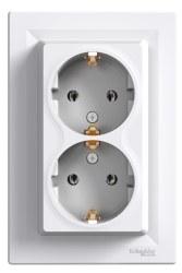 Schneider Electric - Schneider / Asfora Beyaz İkili Topraklı Priz / EPH9900121