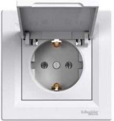 Schneider Electric - Schneider / Asfora Beyaz Kapaklı Topraklı Priz / EPH3100121