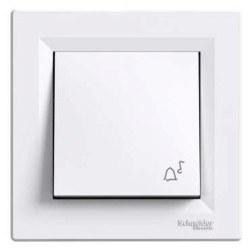 Schneider Electric - Schneider / Asfora Beyaz Zil İşaretli Light Anahtar / EPH0800121