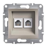 Schneider Electric - Schneider Asfora Bronz 2 Çıkışlı Telefon Prizi / Eph4200169