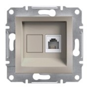 Schneider Electric - Schneider Asfora Bronz Tek Çıkışlı Telefon Prizi / Eph4100169