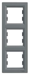Schneider Electric - Schneider Asfora Çelik 3'lü Dikey Çerçeve / Eph5810362