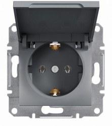 Schneider Electric - Schneider Asfora Çelik Kapaklı Topraklı Priz / Eph3100162