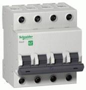 Schneider Electric - Schneider/Easy9 4 Kutuplu 63a C Tipi 3ka 400v K Otomat Sigorta/Ez9f43463