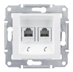 Schneider Electric - Schneider / Sedna Beyaz 2li Data Prizi 4 Kontaklı / SDN4201121