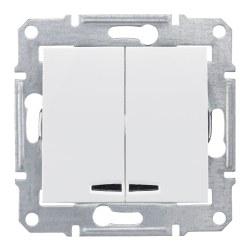 Schneider Electric - Schneider / Sedna Beyaz Işıklı Komütatör / SDN0300321