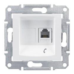 Schneider Electric - Schneider / Sedna Beyaz Telefon Prizi 4 Kontaklı / SDN4101121