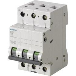 Siemens - Siemens-10a; 3 Fazlı; 70mm Otomat; Anahtarlı Otomatik Sigorta; 10ka; C Tipi; Yavaş Karakterli
