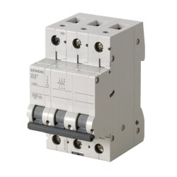 Siemens - 16a; 3 Fazlı; 5sl Classic Anahtarlı Otomatik Sigorta; 6ka; C Tipi; Yavaş Karakterli
