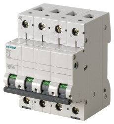 Siemens - 16a; 3p-N; 5sl Classic Anahtarlı Otomatik Sigorta; 6ka; C Tipi; Yavaş Karakterli