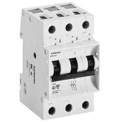 Siemens - 25a; 3 Fazlı; >N< Otomat; Anahtarlı Otomatik Sigorta; 3ka; C Tipi; Yavaş Karakterli