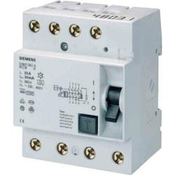 Siemens - Siemens / 4x40A 30 mA Kaçak Akım Rölesi 10kA / 5SM1344-0