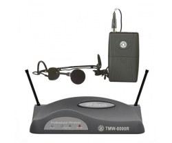 Topp Pro - TMW-8000R Receiver + TMW-8000P Bodypack+ HM-38 headset Mikrofon + LM-10 Yaka Mikrofonu+Gitar Kablosu