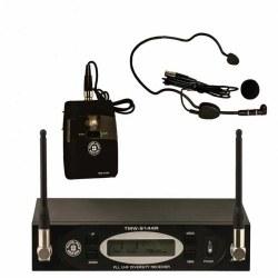 Topp Pro - TMW-9144R Receiver + TMW-9144P Bodypack+ HM-38 headset Mikrofon + LM-10 Yaka Mikrofonu + Gitar Kablosu