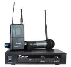 Westa - UHF 1 EL 1 Yaka Telsiz Mikrofon