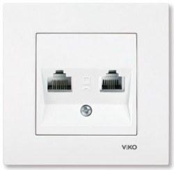 Viko - Viko / Karre - Meridian Beyaz Data + Nümeris Telefon Prizi / 90967081
