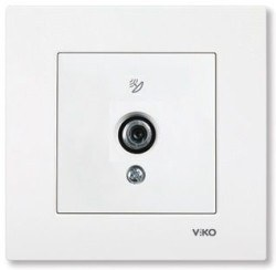 Viko - Viko / Karre - Meridian Beyaz F Konnektörlü 10 dB Geçişli Uydu Prizi / 90967038