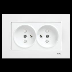 Viko - Viko / Karre - Meridian Beyaz İkili Çocuk Korumalı UPS Topraklı Priz / 90967057